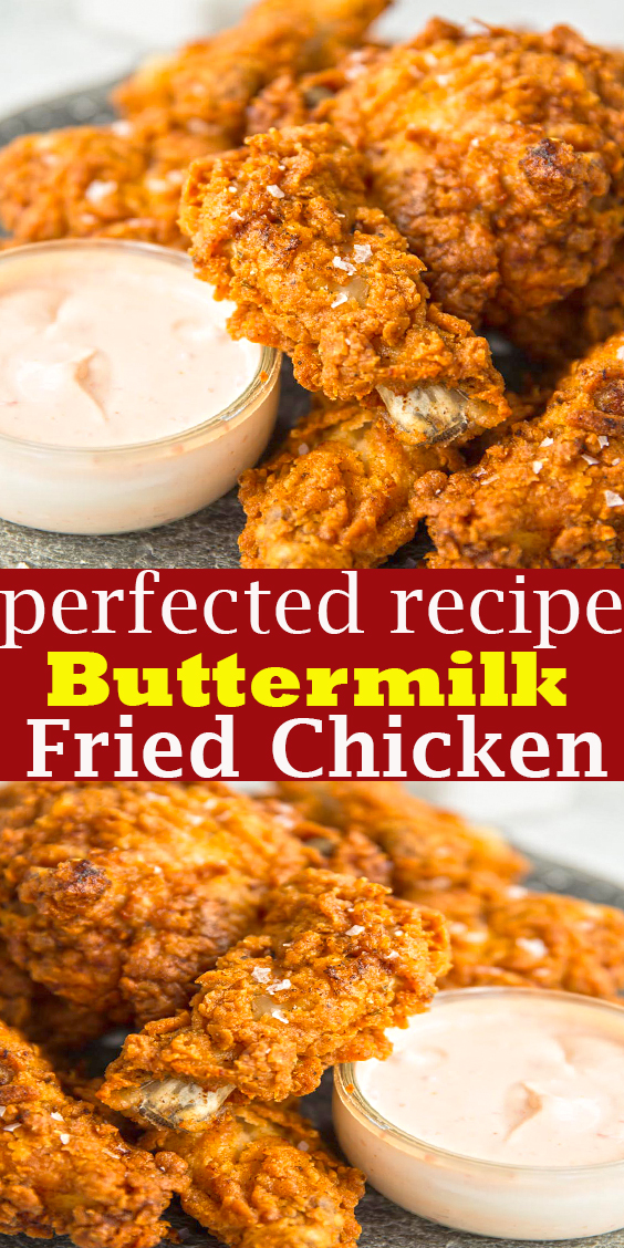 Buttermilk Fried Chicken Buttermilk Fried Chicken Dinner In 2020 Fried Chicken Recipes Buttermilk Fried Chicken Health Dinner Recipes