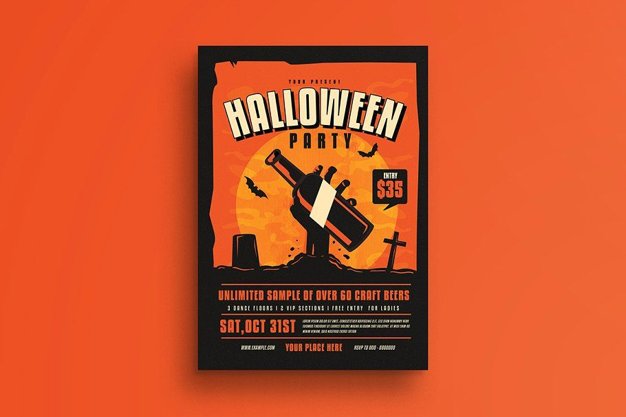 Halloween Party Flyer Partyhalloweentemplatesflyer Flyer