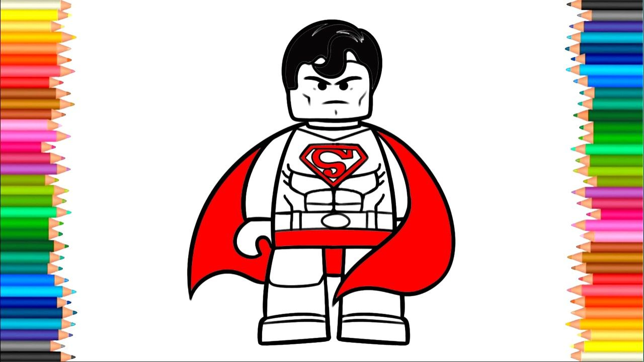 How to Draw a Lego Superman coloring pages , Colors For Kids To ...