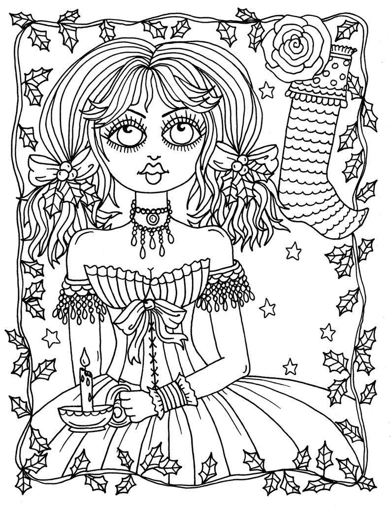 A Gothic Christmas Digital Coloring Book Fun Coloring Pages Etsy In 2021 Cool Coloring Pages Love Coloring Pages Halloween Coloring Pages