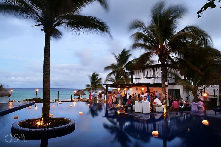 Wedding Venue Le Reve Hotel And Spa Perfect Spot On A Secluded Beach In Playa Del Carmen Unique Boutique For An Intimate Destination