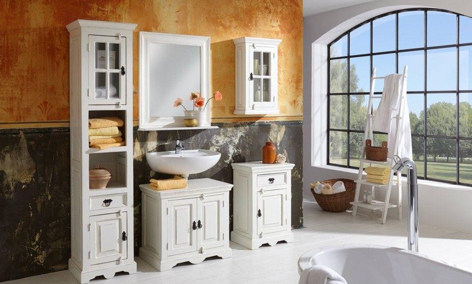 Badezimmermöbel Im Landhausstil   Weiß