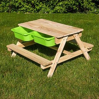 Table Bac A Sable Et Eau Sunny Bois Brun L 90 X L 50 Cm Leroy Merlin En 2020 Bac A Sable Table Bac A Sable Table De Pique Nique