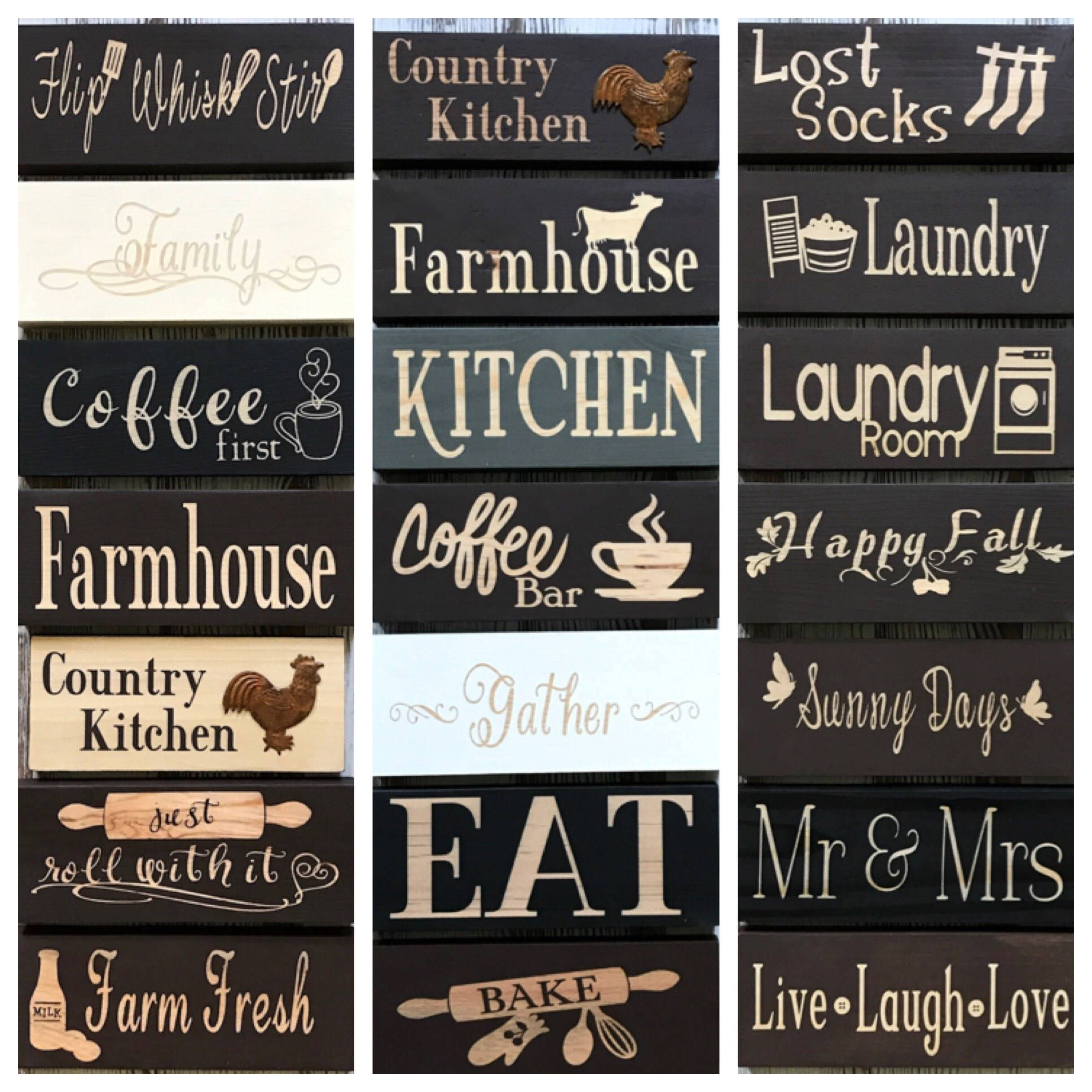 Kitchen Decor Kitchen Signs Wood Signs Small Signs Coffee Sign
