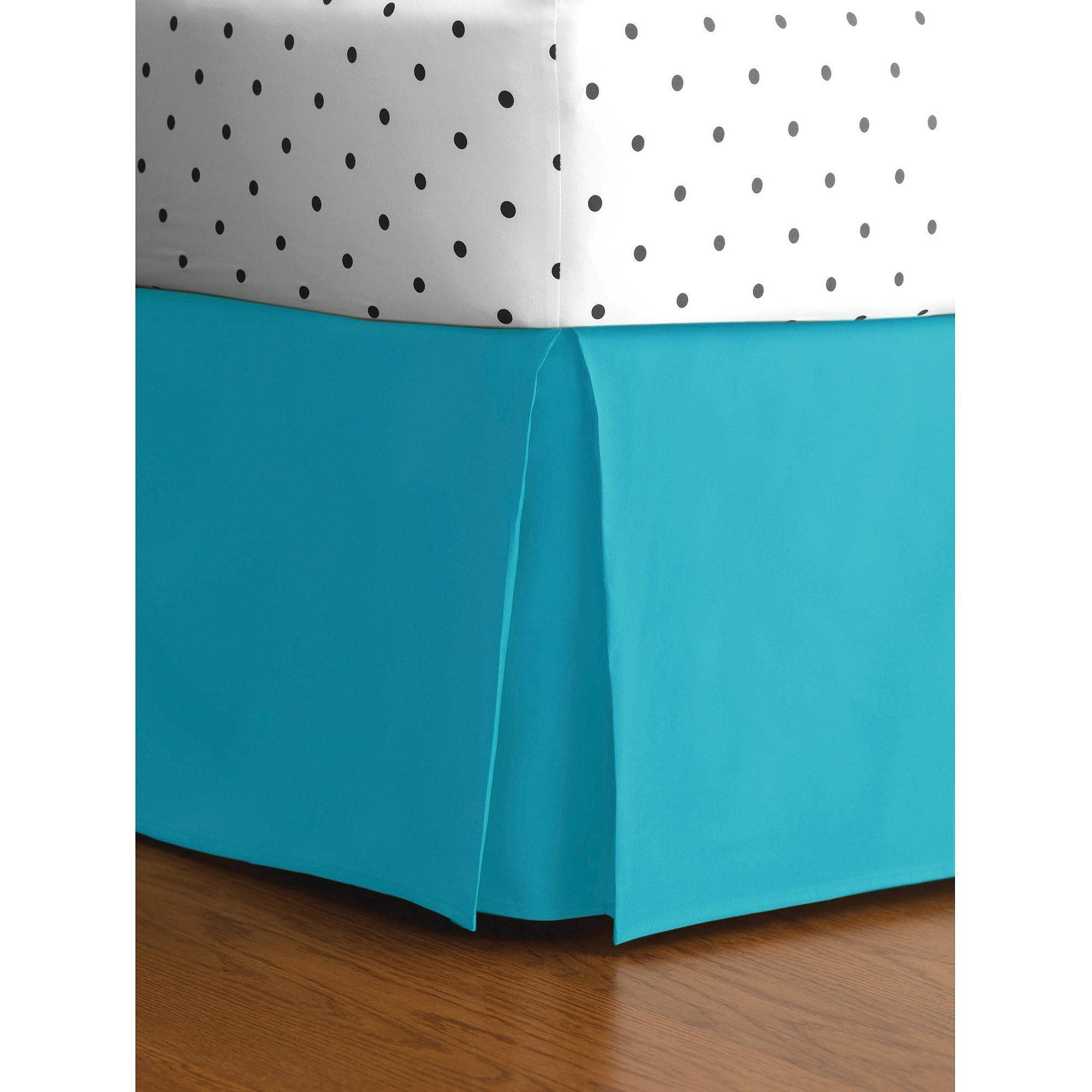 Twin Size Solid Turquoise Egyptian Cotton House Gift Bed Skirt 2
