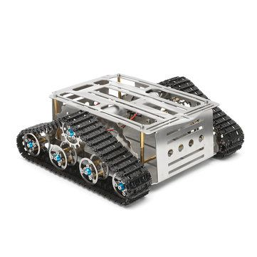 Smart Robot Tank Tracked Car Chassis Kit DIY Stainless Aluminum Alloy Vehicle Sale - Banggood.com