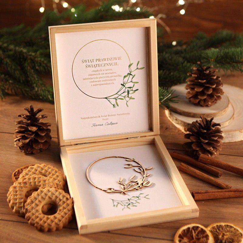 Prezent Firmowy Swiateczny Craft W Pudelku Jemiola Z Logo Gifts Gift Wrapping Wrap