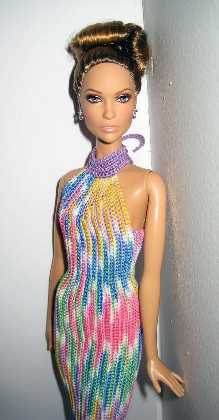 Pin von Michele auf Crochet barbie II   Pinterest   Puppenkleidung ...