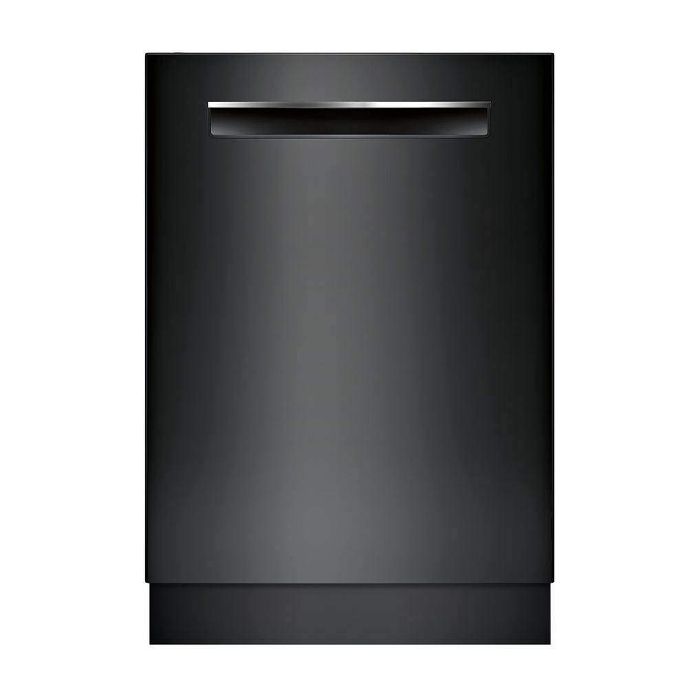 Bosch 500 Series 24 In Black Top Control Tall Tub Pocket Handle Dishwasher With Stainless Steel Tub Autoair 44dba Shpm65z56n The Home Depot Black Dishwasher Steel Tub Built In Dishwasher