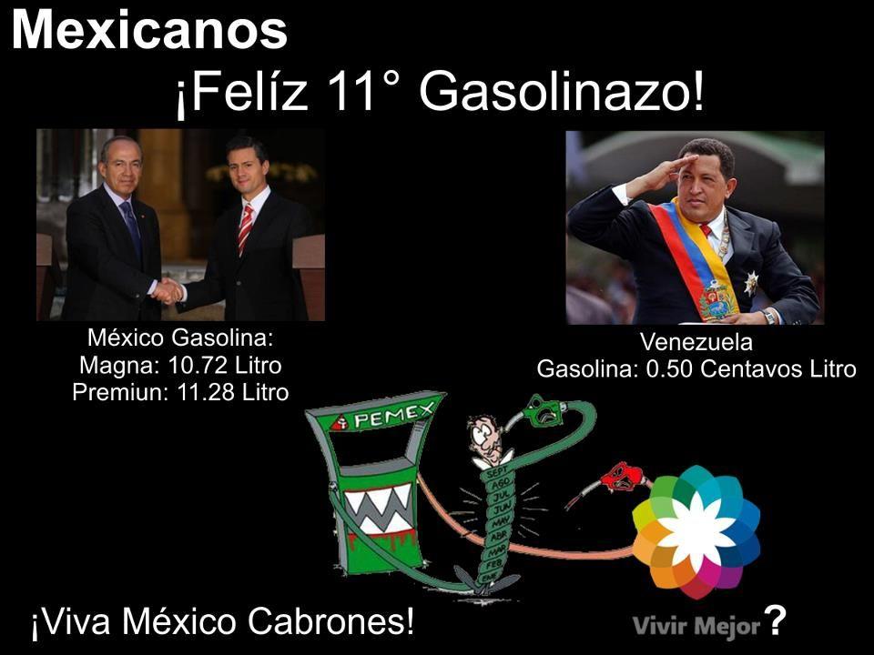 gasolinazos, gracias al prian