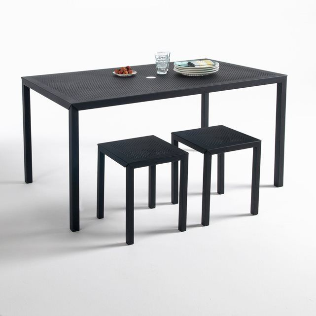 Table rectangulaire en métal perforé, Choe La Redoute Interieurs ...
