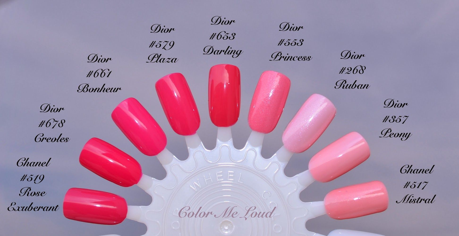 Comparisons of Dior Gel Vernis #661 Bonheur and #268 Ruban with ...