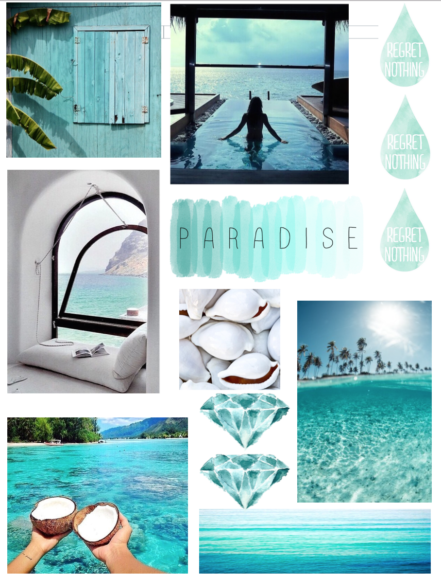 Tropical tumblr inspired collage | Notebook collage, Diy ...