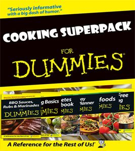 """Cooking Superpack for Dummies - The Cooking Superpack for Dummies includes 6 """"for Dummies"""" guides!"""