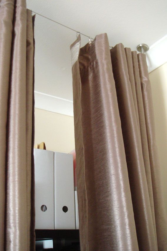Cheryl 39 s cozy room divider making room for baby diy - Room divider curtain ideas ...