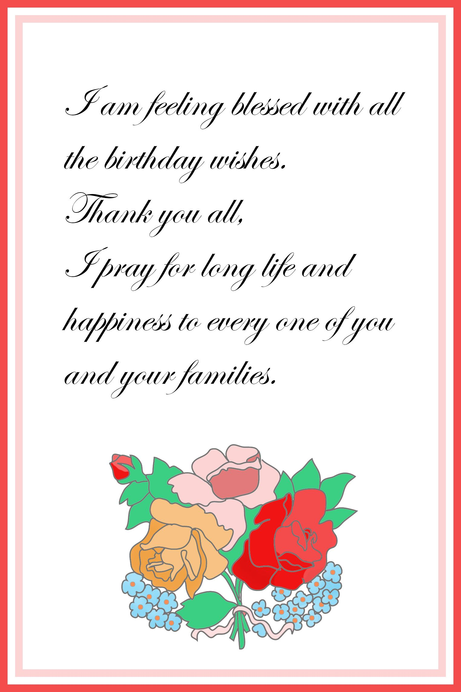 thank you card for birthday wishes gangcraft printable cards free