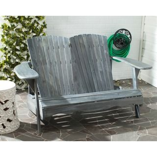 Safavieh Outdoor Living Mopani Adirondack Ash Grey Acacia Wood Chair - Overstock Shopping - Big Discounts on Safavieh Sofas, Chairs & Sectionals
