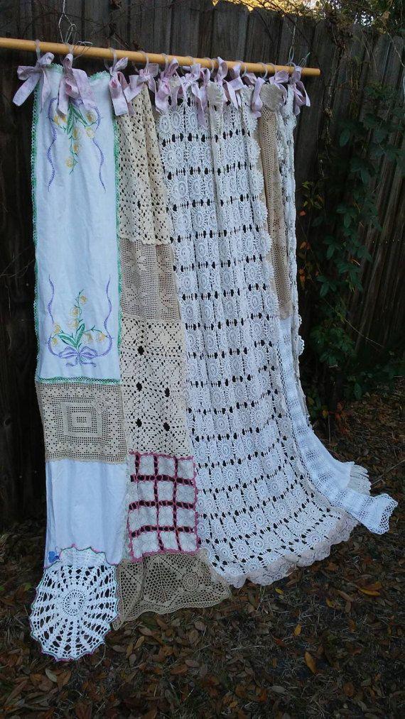 Shabby Chic Vintage Crochet Shower by BohoBagsNThings on Etsy | etsy ...