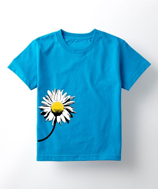 Turquoise Daisy Tee - Toddler & Girls