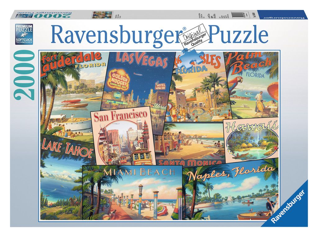 Vintage Vacations | Adult Puzzles | 2D Puzzles | Shop | US |  ravensburger.com