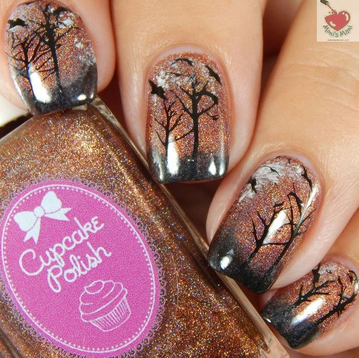 Simple Halloween Themed Nail Design 50 Halloween Nail Designs