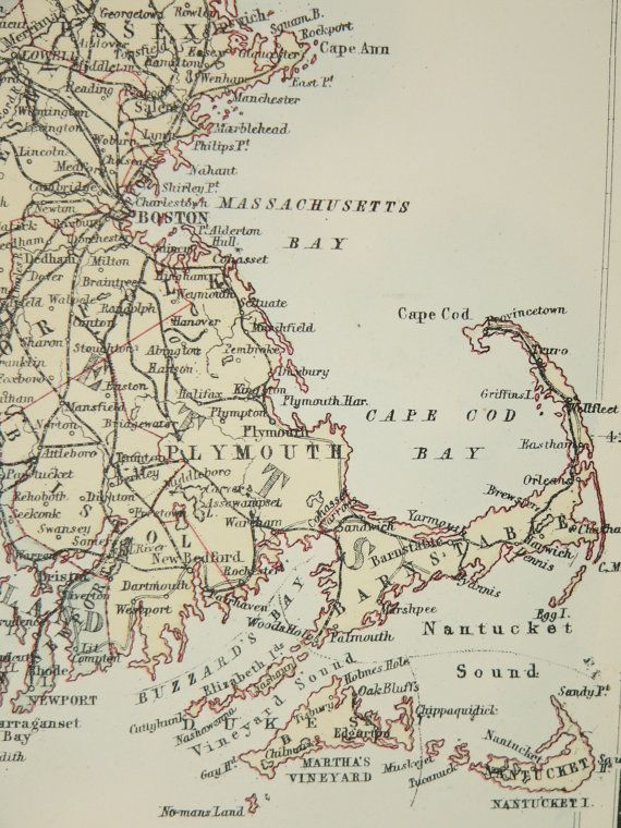 Where Is New England In The Usa Map.1884 New England State Map Ne United States Map A C Black Map
