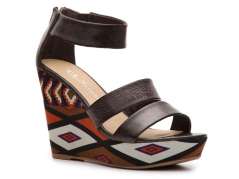 Cl By Laundry Ines Printed Wedge Sandal My Shoes