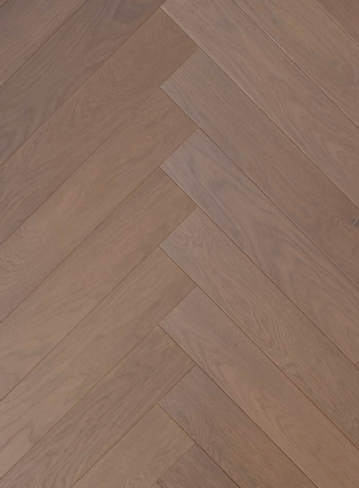 Light Smoked And Brushed Oak Engineered Herringbone Parquet Flooring Please Call Tomson Floors For Free Samples Commercial