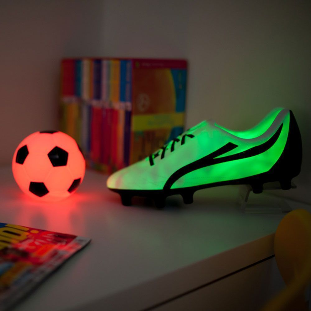 football boot colour changing led light bedside lamp new football boot colour changing led light bedside lamp new