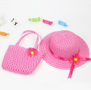 1-5 Years Children Accessories Straw Htas and Handbags Set Cute Flower Decoration Beach Bag and Sun Hat for Childre https://t.co/XsazPgrKmr