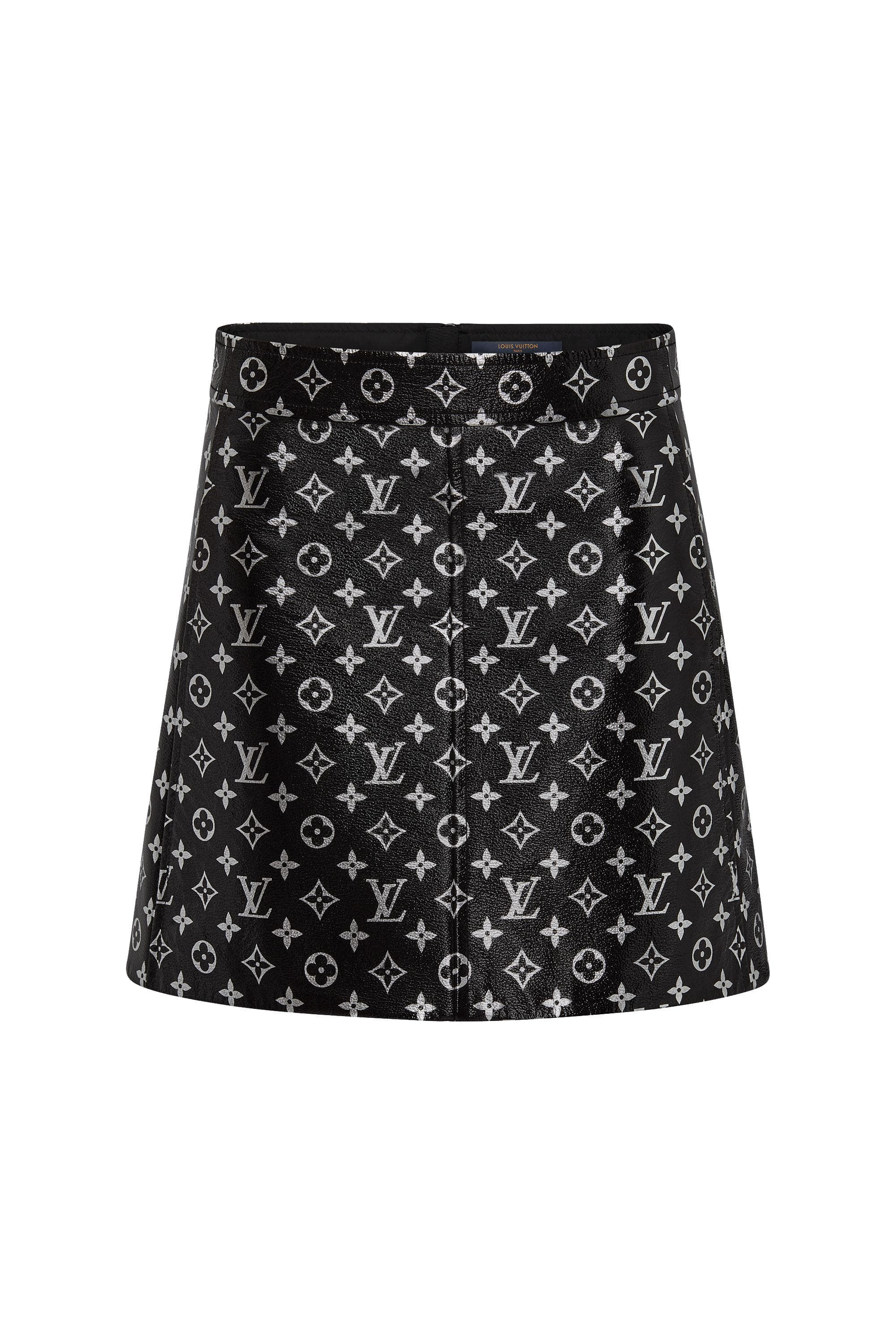 2f5bed8627 Monogram Printed Leather Mini Skirt - Ready-to-Wear   LOUIS VUITTON ...