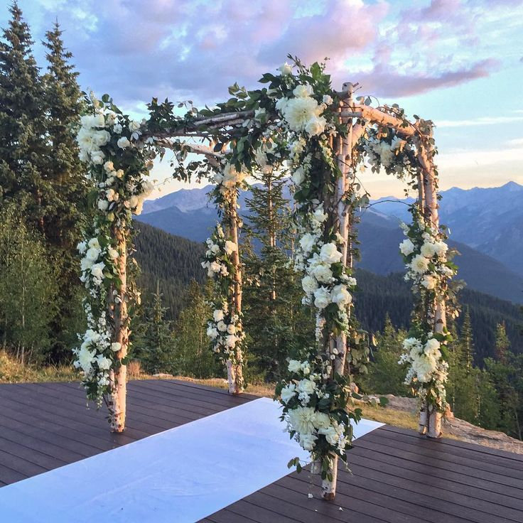 Gorgeous Outdoor Wedding Ceremony Arch At The Little Nell In Aspen Colorado Mountainwedding