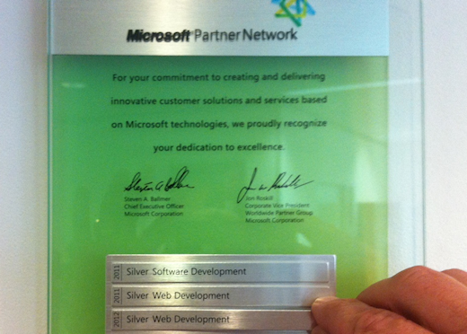 Bergler is weer Certified Microsoft Partner 2012/2013