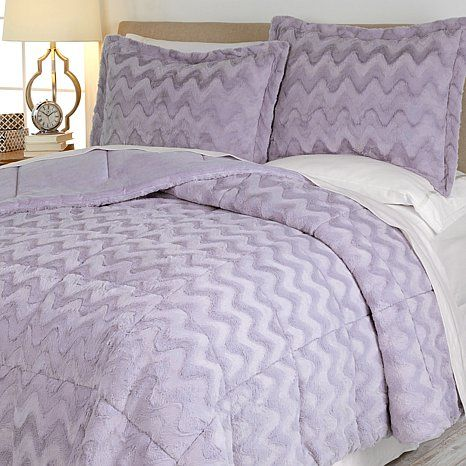 Concierge Soft & Cozy Long Faux Fur Wave Comforter Set
