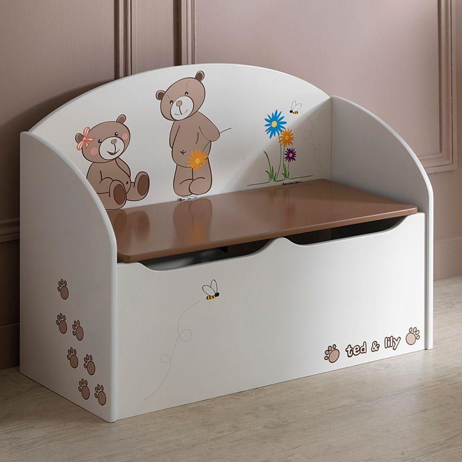 Coffre à jouets coloré beige lit enfant pinterest