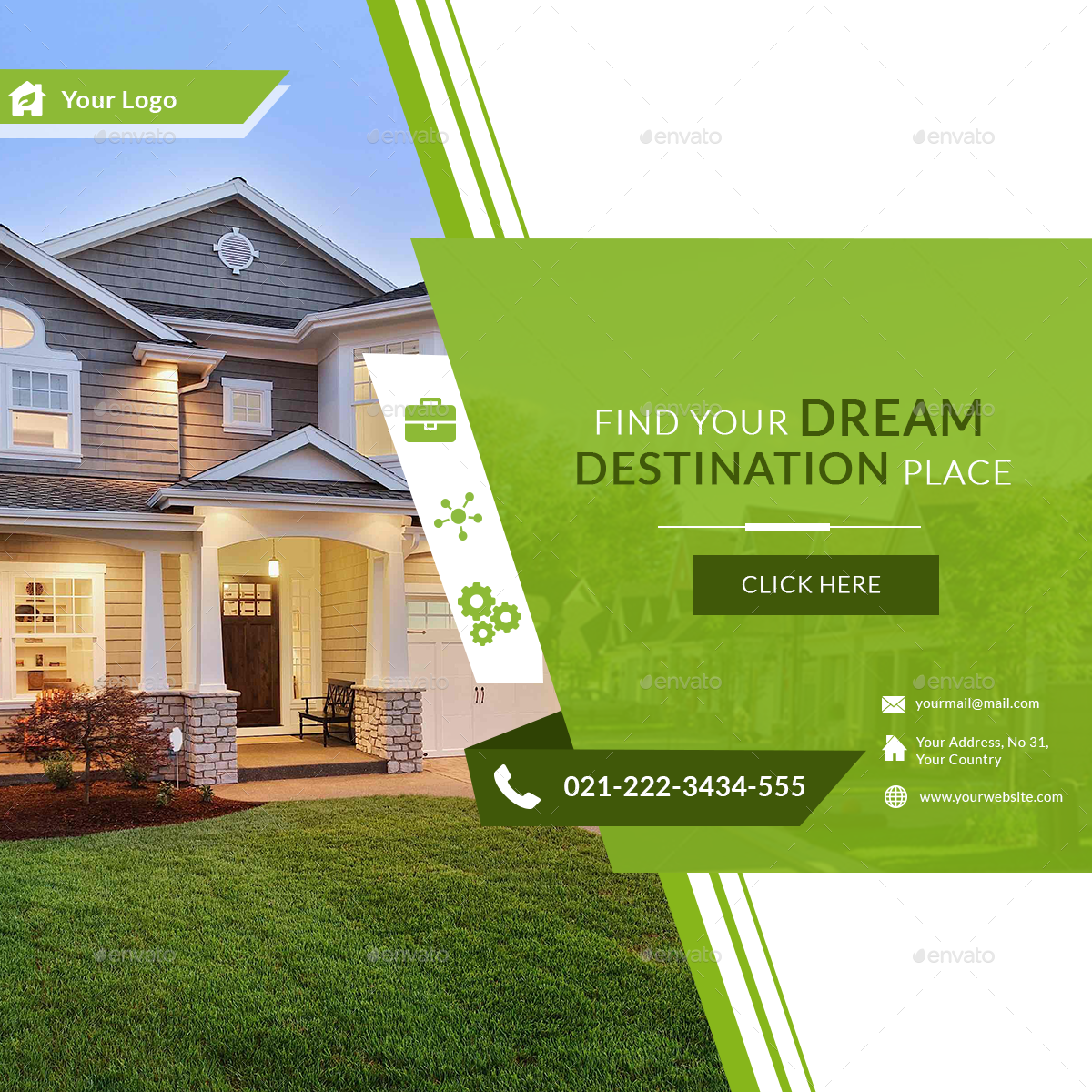 Real Estate Fb Ad Banners Ar Promotional Design Real Estate Banner Business Brochure Design