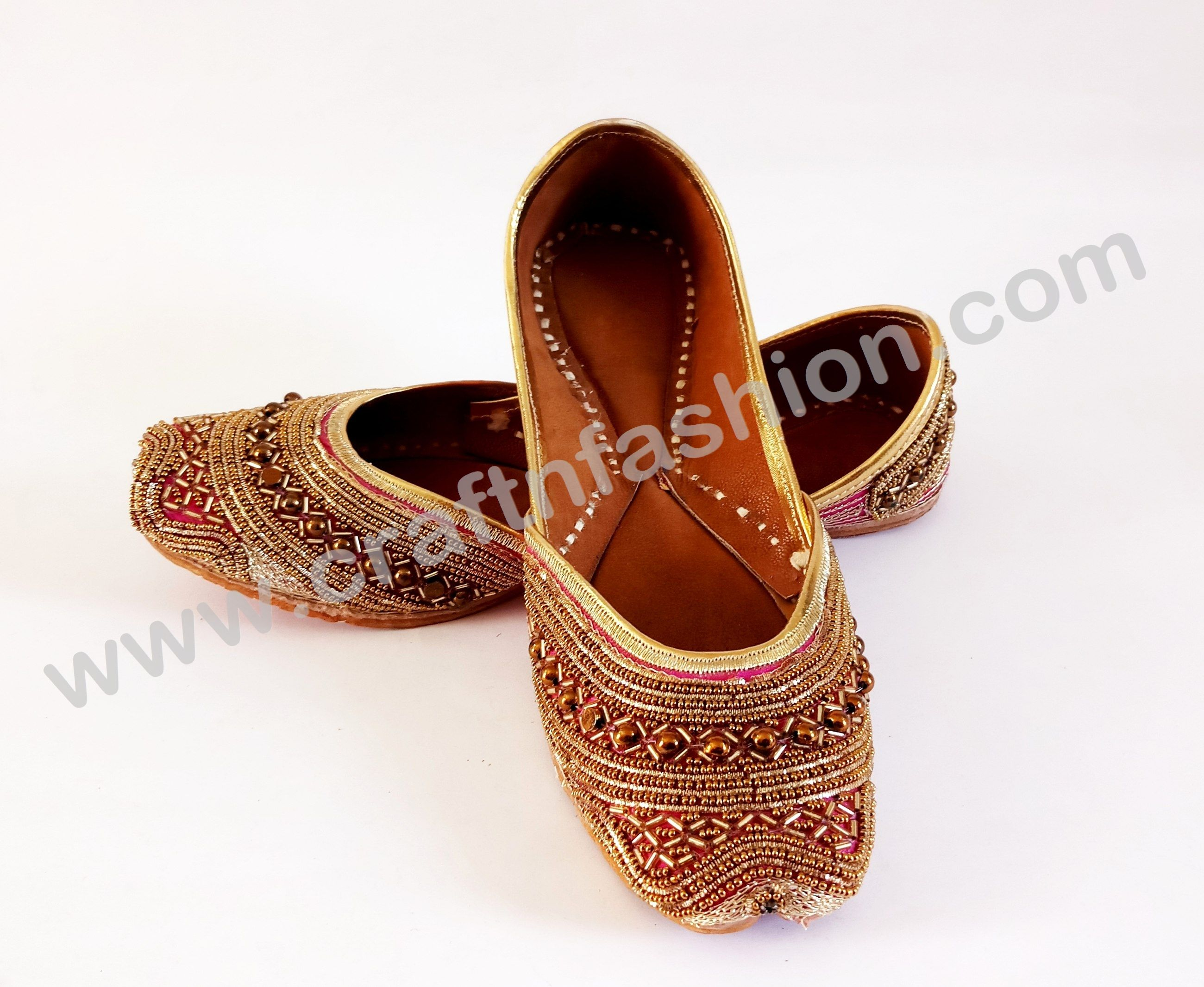 a95206c6ef11 Women's Zardosi Work Jutti - Exclusive Beaded Jutti - Punjabi Mojari- Megh  Craft | Clothing, Shoes & Accessories, Women's Shoes, Slippers | eBay!