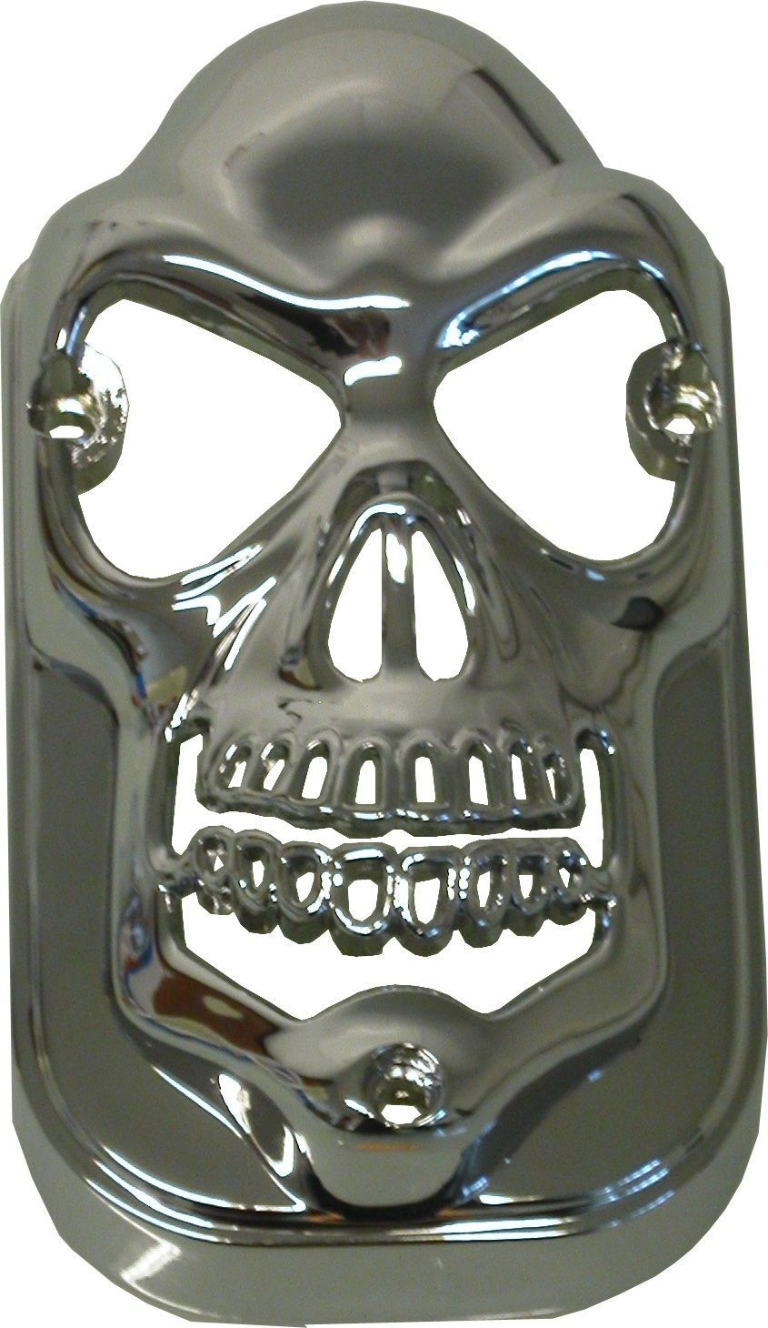 Motorcycle Chrome Die Cast Skull Taillight Cover to Fit