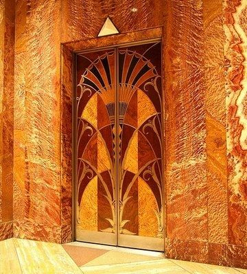 Here Is An Elevator Door From The Chrysler Building Built 1929