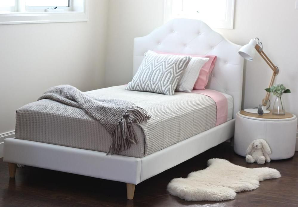 Best Mia Single Upholstered Bed White Upholstered Bed Kid 400 x 300