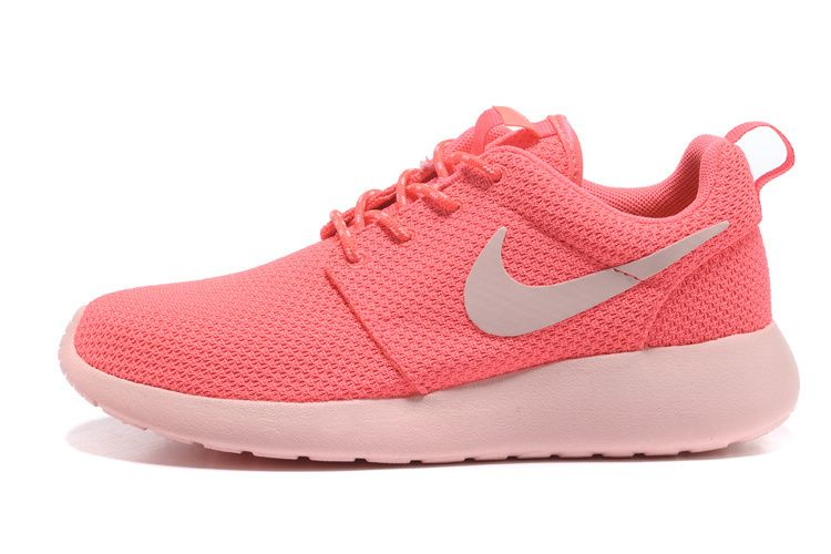 3edc90c7beac0 Womens Nike Roshe Run   Nike Free Run 3 Hot Punch Pink Shoes