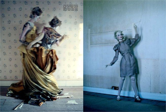 mechanical dolls by tim walker for vogue italia, october 2011