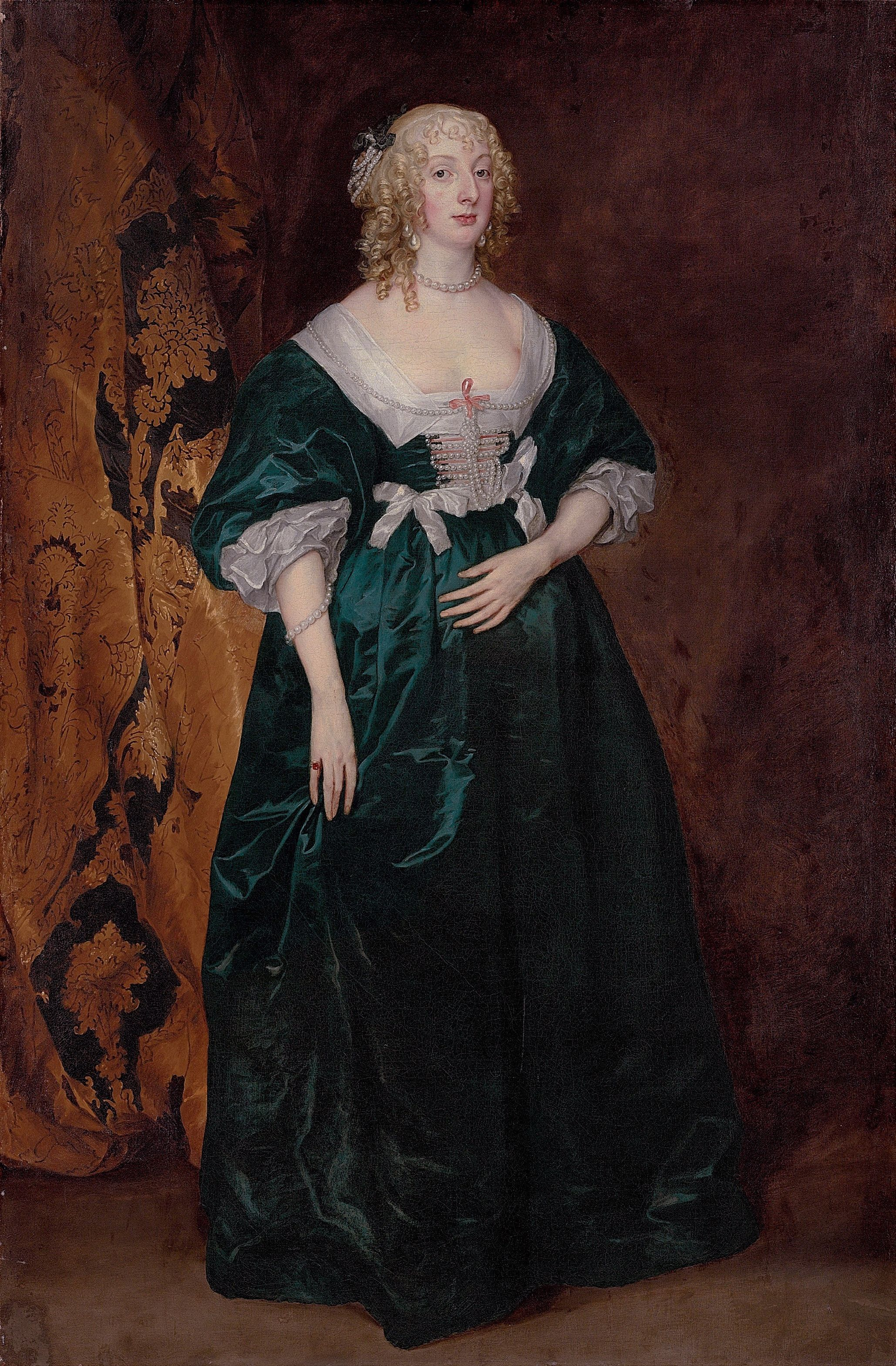 Anne Sophia, Countess of Carnarvon by Anthony van Dyck, unknown date (ca 1630's?) UK http://www.christies.com/LotFinder/lot_details.aspx?intObjectID=5339098