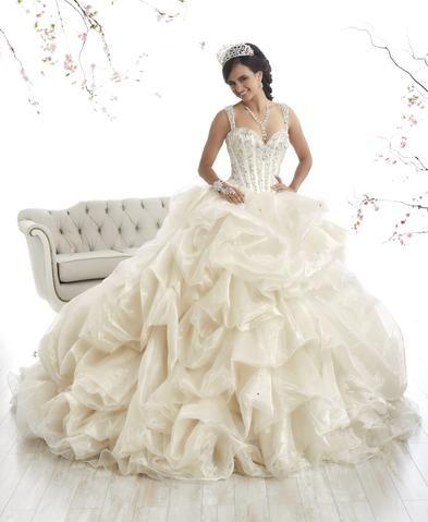 b8f77980bb5 Sleeveless Ruffled Quinceanera Dress by House of Wu 26901