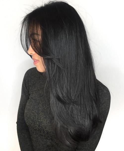 50 tagli di capelli a strati lunghi carini e facili con frangia – i migliori tagli di capelli