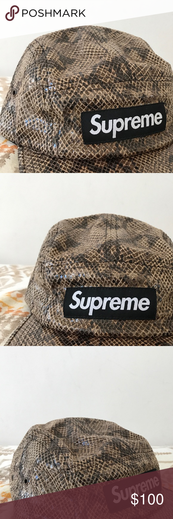 Supreme Box Logo Snake Skin Hat Authentic supreme snakeskin hat. 9.5 10  condition. Worn once. Will negotiate if reasonable price is offered Supreme  ... a155984fb92