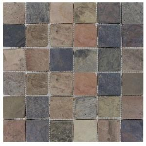 M S International Inc 2 In X 2 In Mixed Color Slate Mosaic Floor Wall Tile Thdw3 Sh Mc2x2t At The Home Dep Mosaic Flooring Mosaic Tiles Multi Color Tile
