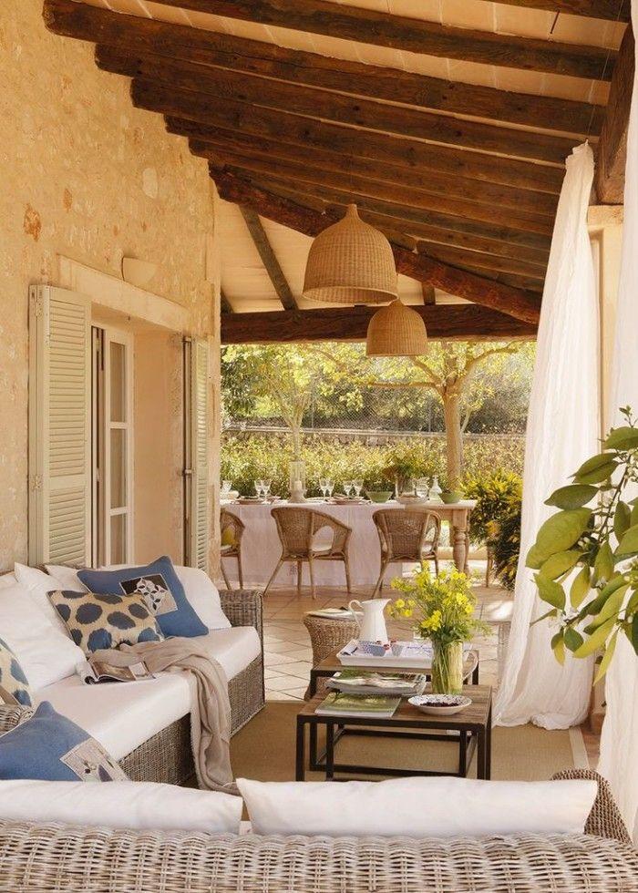 Decorar exterior terrazas calidas pinterest - Decoracion porches ...