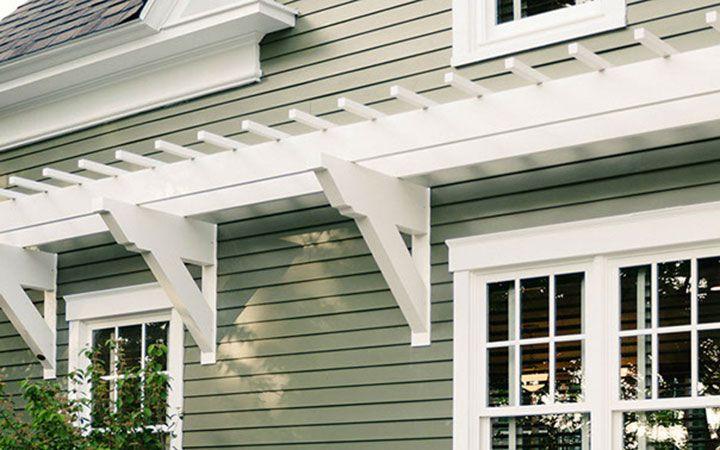 Low Maintenance Easy To Install Wall Pergola Kits By Trex Wall Pergola Pergola Outdoor Pergola