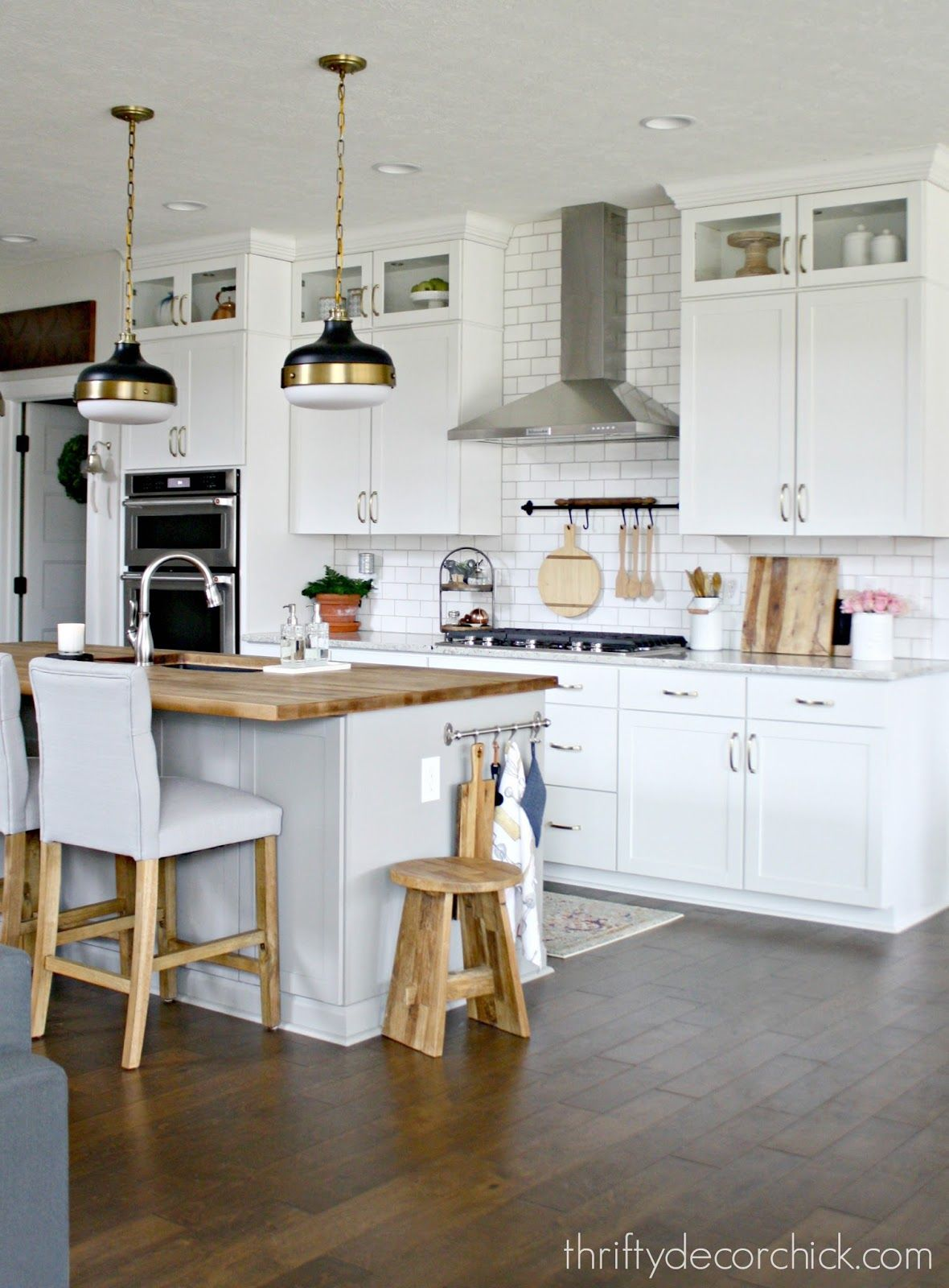 A tour of our (new) kitchen | Grey grout, Grout and Kitchens